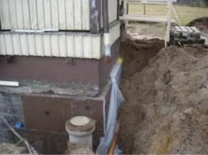 Dränera husgrund utan källare
