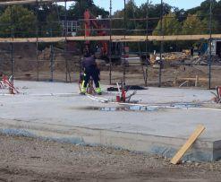 provtrycka golvvärme betongplatta