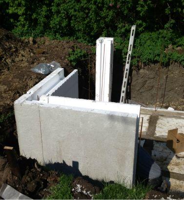 bygga yttervägg på betongplatta