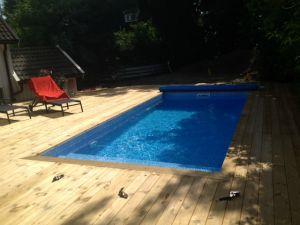 Bygga pool själv betong