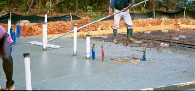 gjuta betongplatta
