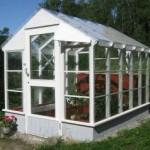 Bygga grund för växthus med platta på mark.