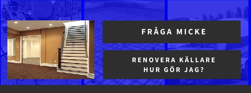Renovera källare - hur gör jag