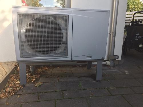 luft vatten värmepump kondensvatten till stuprör