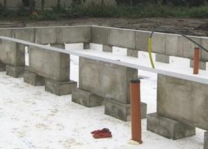Prefabricerade grundelement för betongplatta på mark