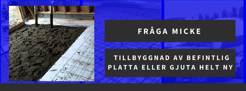 Tillbyggnad av befintlig platta eller gjuta helt ny betongplatta till garage