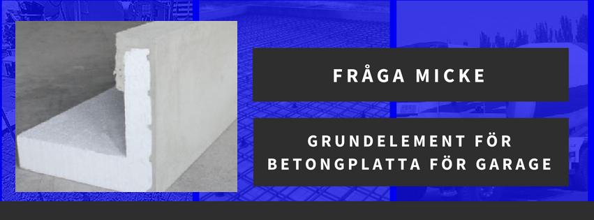 Grundelement för betongplatta för garage
