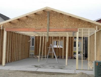 bygga garage grund