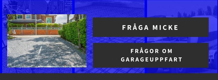 Frågor om garageuppfart