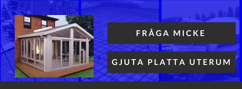 Gjuta betongplatta för uterum