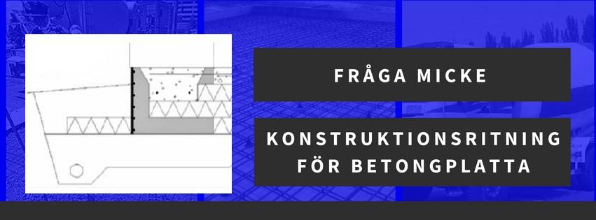 Konstruktionsritning för betongplatta