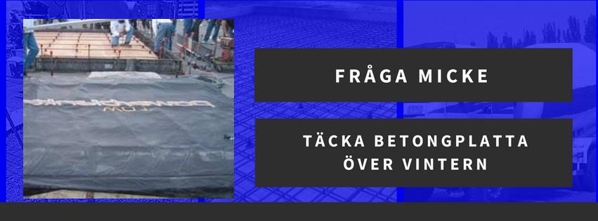 Täcka platta i Umeå med betongtäckmatta över vintern