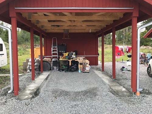 carport till garage konvertering