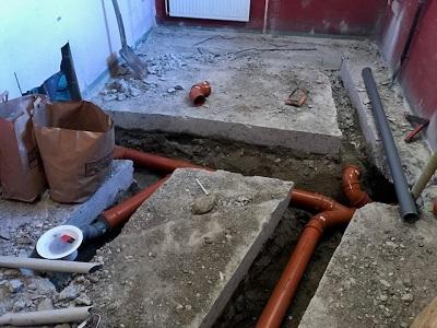 gjuta på befintlig betongplatta