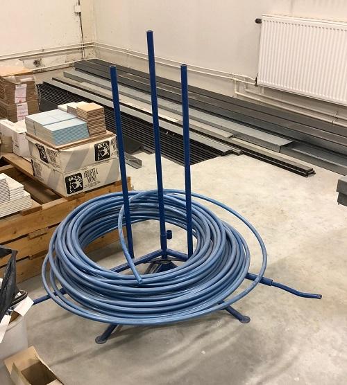 rörvinda förenklar monteringen av golvvärmeslangen