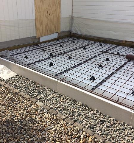 betongplatta tillbyggnad