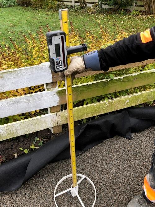laserverktyg för att mäta höjder
