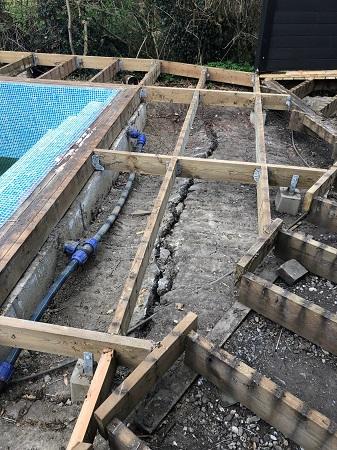 sättning pool
