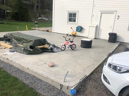 betongplatta garage