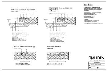 Konstruktionsritning för platta på mark
